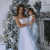 """Одежда ручной работы. Ярмарка Мастеров - ручная работа """"Новогодняя сказка"""" платье в пол для мамы + дочка. Handmade."""