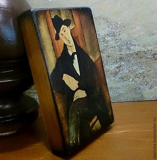 Репродукции ручной работы. Ярмарка Мастеров - ручная работа. Купить Панно на дереве Модильяни Портреты. Handmade. Коричневый, панно в подарок