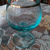Винтаж handmade. Livemaster - original item Vintage glasses: vitriol glass glass. Handmade.