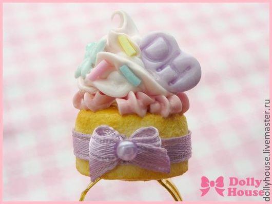 "Кольца ручной работы. Ярмарка Мастеров - ручная работа. Купить Кольцо ""Sweet Cream"" 2. Handmade. Dolly house"