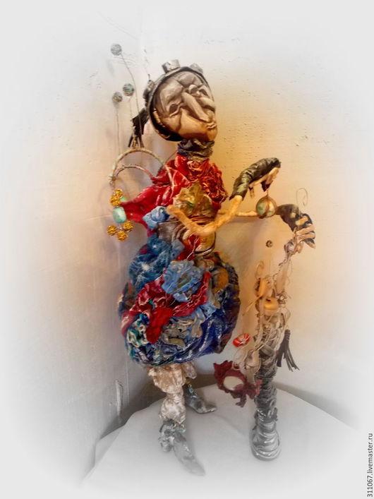 Человечки ручной работы. Ярмарка Мастеров - ручная работа. Купить Шармащик. Handmade. Синий, обаятельный, философский, металлический каркас, войлок