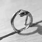 Украшения ручной работы. Ярмарка Мастеров - ручная работа Змея серебряное кольцо. Handmade.