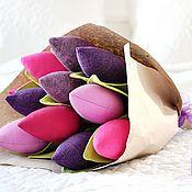 """Цветы и флористика ручной работы. Ярмарка Мастеров - ручная работа Тюльпаны """"Ягодки"""". Handmade."""