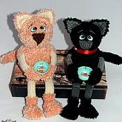 Куклы и игрушки ручной работы. Ярмарка Мастеров - ручная работа Коты-попрошайки. Handmade.
