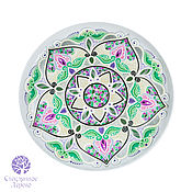 """Тарелки ручной работы. Ярмарка Мастеров - ручная работа """"Стамбульский Тюльпан"""" тарелка керамика турецкий узор. Handmade."""