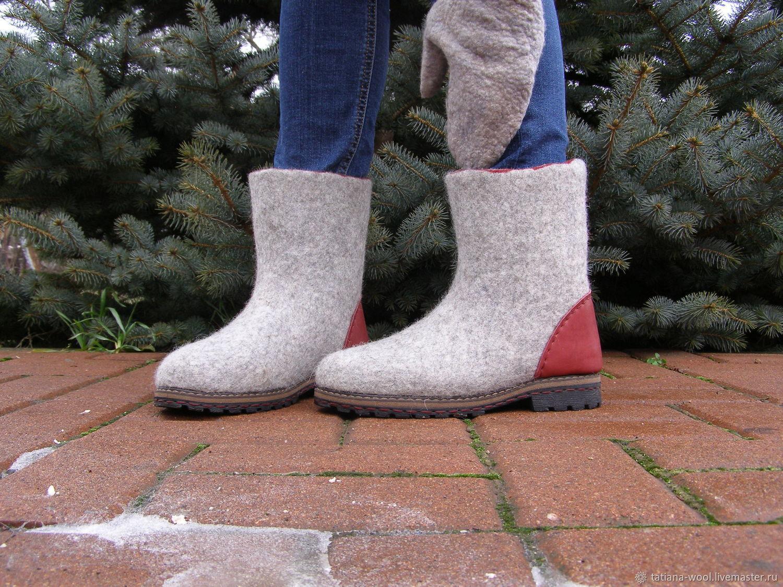 """Обувь ручной работы. Ярмарка Мастеров - ручная работа. Купить Сапожки-валенки """"Для дочки"""". Handmade. Валенки, валенки на подошве"""