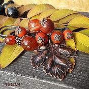 """Украшения ручной работы. Ярмарка Мастеров - ручная работа """"Лесные орешки"""" брошь из камней, осенняя брошь, рыжий. Handmade."""