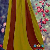 """Одежда ручной работы. Ярмарка Мастеров - ручная работа осенняя теплая юбка """"Золотая пора"""" из  джерси. Handmade."""