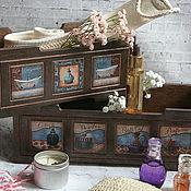 Для дома и интерьера handmade. Livemaster - original item Salle de Bain Storage Boxes. Box decoupage. Handmade.