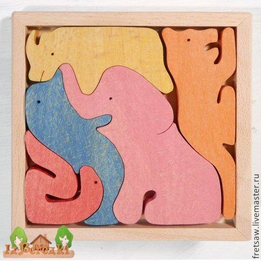 Игрушки животные, ручной работы. Ярмарка Мастеров - ручная работа. Купить Веселый зоопарк со слоном (цветной). Handmade. Слон