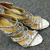 Обувь ручной работы handmade. Livemaster - original item Women`s sandals, Python skin, in natural color.. Handmade.
