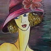 Картины и панно handmade. Livemaster - original item Painting on canvas. Parisienne. Handmade.