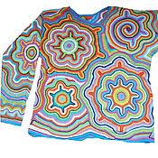 Одежда handmade. Livemaster - original item knitted jumper Psychedelia READY. Handmade.