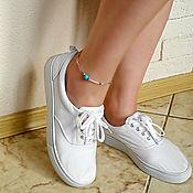 """Украшения ручной работы. Ярмарка Мастеров - ручная работа Браслет на ногу """"Style"""", украшение на ногу. Handmade."""