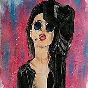 Одежда ручной работы. Ярмарка Мастеров - ручная работа Девушка с сигаретой. Handmade.