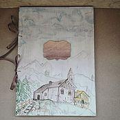 """Свадебный салон ручной работы. Ярмарка Мастеров - ручная работа Папка для свидетельства """"Лучше гор, могут быть только горы"""" с.. Handmade."""