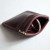 Wallets handmade. Livemaster - original item A change purse little pouch (coin wallet) - leather from Horween. Handmade.