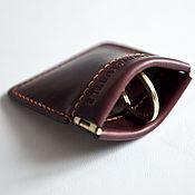 Сумки и аксессуары handmade. Livemaster - original item A change purse little pouch (coin wallet) - leather from Horween. Handmade.