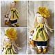 Куклы тыквоголовки ручной работы. Интерьерная текстильная кукла большеножка Солнечная малышка. Мария (MayDay-dolls). Интернет-магазин Ярмарка Мастеров.