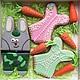 Набор имбирных пряников ` Кролик Толик ` с масличными морковками.