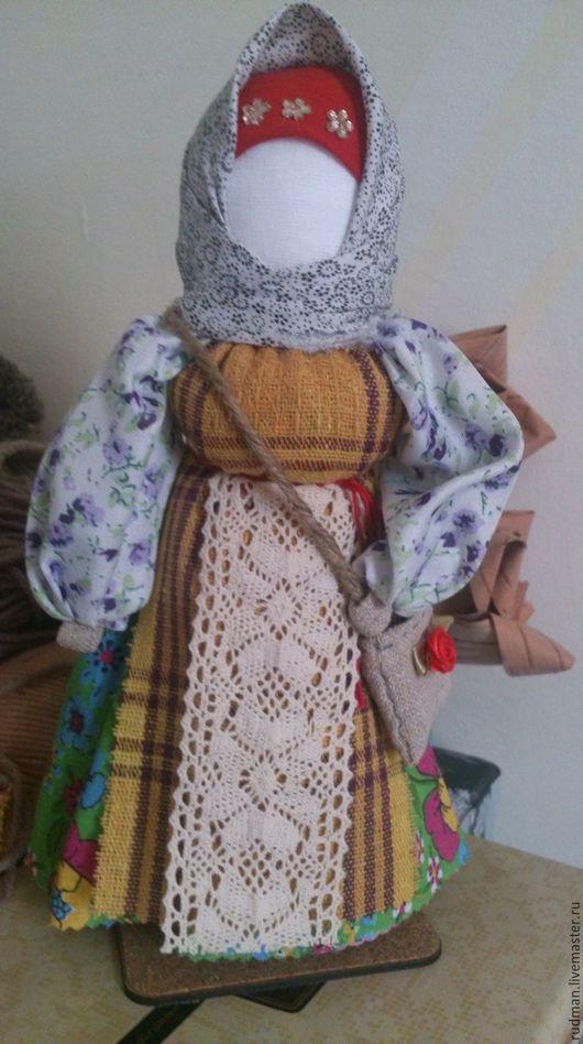 Народные куклы ручной работы. Ярмарка Мастеров - ручная работа. Купить Успешница. Handmade. Голубой, кукла в подарок, денежка