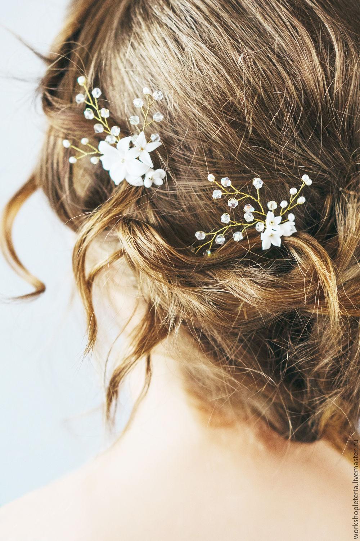 Заколки для свадебной прически своими руками