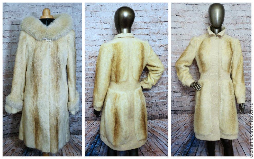Верхняя одежда ручной работы. Ярмарка Мастеров - ручная работа. Купить Пальто из нутрии. Handmade. Мех, москва, меховой, перешив