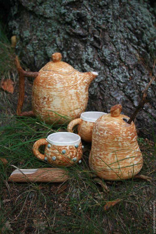 Сервизы, чайные пары ручной работы. Ярмарка Мастеров - ручная работа. Купить Набор посуды. Handmade. Коричневый, лесной
