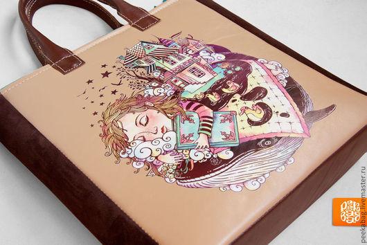 """Женские сумки ручной работы. Ярмарка Мастеров - ручная работа. Купить Сумка кожаная """"Fairy Tale Beige"""". Женская кожаная сумка, сумка из кожи. Handmade."""