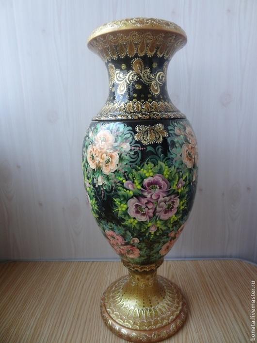 """Вазы ручной работы. Ярмарка Мастеров - ручная работа. Купить Ваза """" Королевская"""". Handmade. Черный, для дома и интерьера, вазы"""