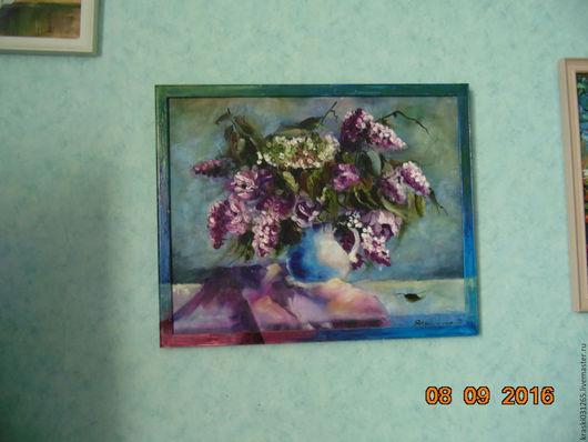 Картины цветов ручной работы. Ярмарка Мастеров - ручная работа. Купить Натюрморт с букетом сирени. Handmade. Купить подарок женщине
