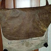 Сумки и аксессуары ручной работы. Ярмарка Мастеров - ручная работа Мужская кожаная сумка винтаж. Handmade.