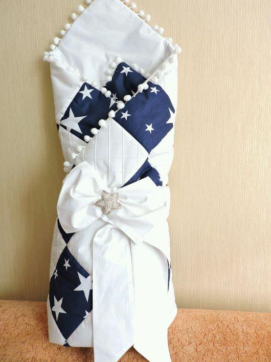 Для новорожденных, ручной работы. Ярмарка Мастеров - ручная работа. Купить Конверт-одеялко на выписку из роддома. Handmade. Конверт на выписку