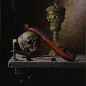 """Картины и панно ручной работы. Ярмарка Мастеров - ручная работа """"Vanitas"""" Натюрморт с черепом. Handmade."""