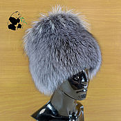 Аксессуары handmade. Livemaster - original item fur hat women`s knitted lining fox fur df-44. Handmade.