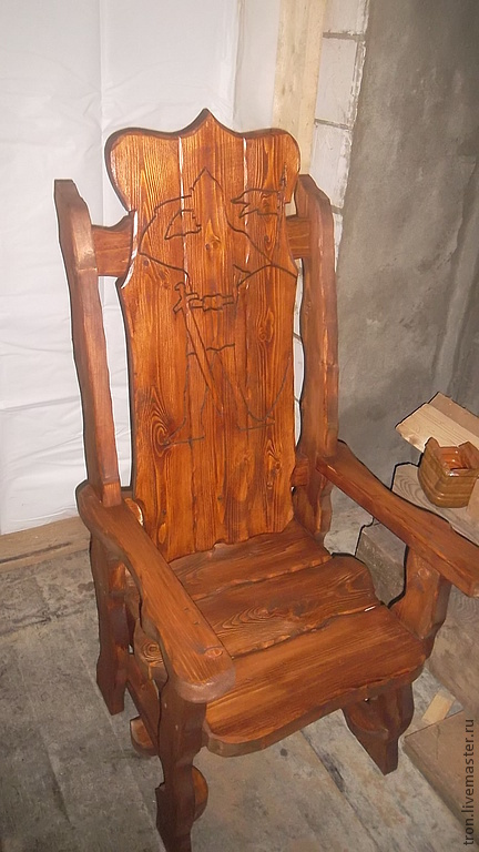 Мебель ручной работы. Ярмарка Мастеров - ручная работа. Купить Трон. Handmade. Мебель, кресло, стол, трон, ель