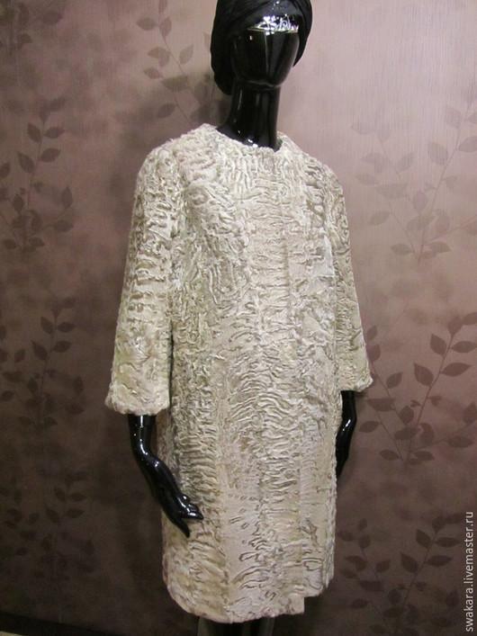 """Верхняя одежда ручной работы. Ярмарка Мастеров - ручная работа. Купить Шубка II из """"золотого"""" каракуля СВАКАРА в стиле ШАНЕЛь с лисой. Handmade."""