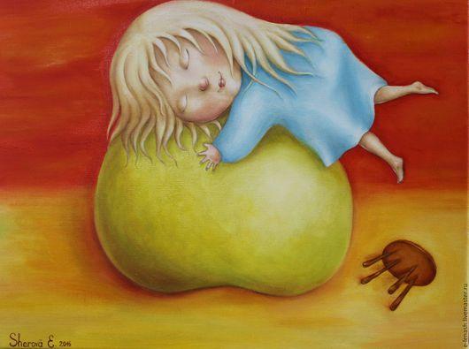 Символизм ручной работы. Ярмарка Мастеров - ручная работа. Купить Яблочный закат. Handmade. Ярко-красный, яблоко, традиционный костюм