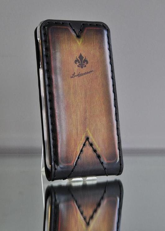 Для телефонов ручной работы. Ярмарка Мастеров - ручная работа. Купить Чехол для Samsung Galaxy S5 из кожи ручной работы №109. Handmade.