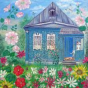 """Картины и панно ручной работы. Ярмарка Мастеров - ручная работа Картина маслом  """"Дом милый дом"""". Handmade."""
