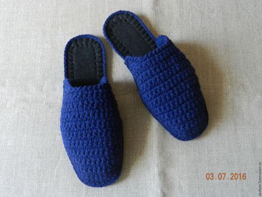"""Обувь ручной работы. Ярмарка Мастеров - ручная работа. Купить """"Любимый брутал"""" тапочки мужские (подошва валяная). Handmade. флис"""