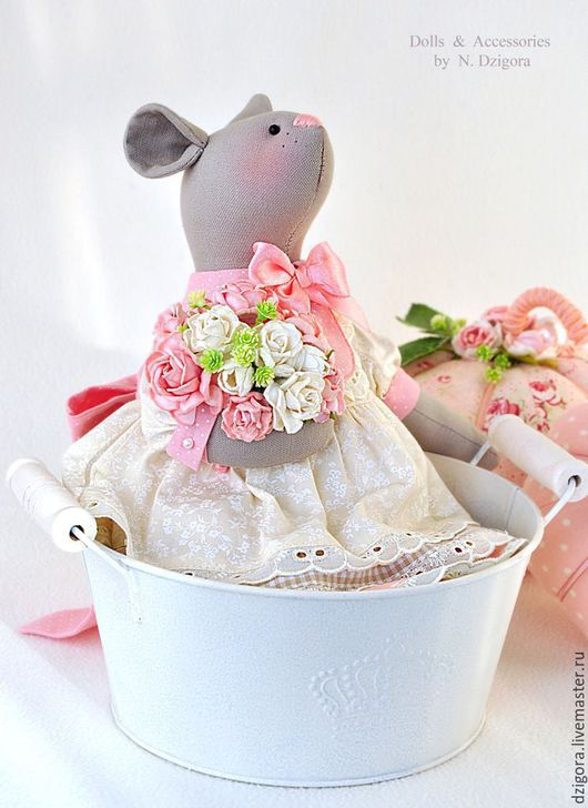 Игрушки животные, ручной работы. Ярмарка Мастеров - ручная работа. Купить Мышка Estelle / Эстель текстильная интерьерная игрушка. Handmade.