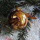 """Новый год 2017 ручной работы. """"Золотые"""" Волшебные шары на елку. Волшебство воды (watermagic). Ярмарка Мастеров. Волшебная елочная игрушка"""