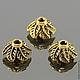 Шапочки для бусин в тибетском стиле Листья для использования в сборке украшений\r\nМатериал сплав\r\nЦвет античное золото