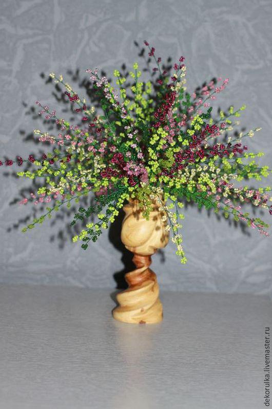 Искусственные растения ручной работы. Ярмарка Мастеров - ручная работа. Купить Вереск из бисера № 4. Handmade. Разноцветный