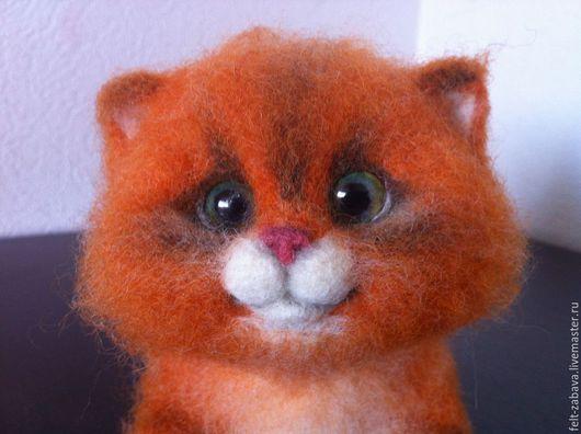 Игрушки животные, ручной работы. Ярмарка Мастеров - ручная работа. Купить Котик. Handmade. Рыжий, игрушка в подарок