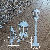 Материалы для творчества handmade. Livemaster - original item !Cutting for scrapbooking SET of garden LIGHTS. Lantern, flashlight. Handmade.