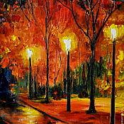 Картины и панно ручной работы. Ярмарка Мастеров - ручная работа Картина Осень в парке. Handmade.