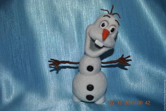 Сказочные персонажи ручной работы. Ярмарка Мастеров - ручная работа. Купить снеговик Олаф. Handmade. Белый, мультяшки, 100% шерсть