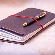 handmade. Livemaster - original item Leather notebook
